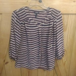 Women's Daisy Fuentes Striped Blouse Small